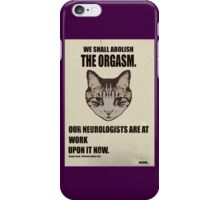 Orwellian Cat Has Some ISSUES iPhone Case/Skin