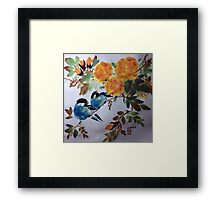 Gazing into the beauty Framed Print