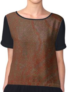 Rusted Sugar Cartoon Maple  Chiffon Top