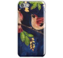 Chubby birds in the moonlight iPhone Case/Skin