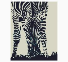 """Zebra"" Pen and Ink One Piece - Short Sleeve"
