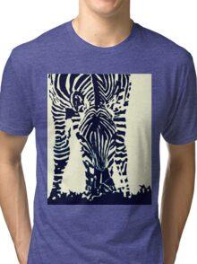 """Zebra"" Pen and Ink Tri-blend T-Shirt"