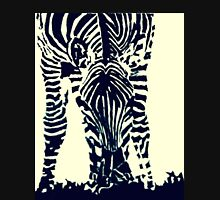 """Zebra"" Pen, Ink, & Black Paint on Gesso Hoodie"