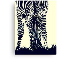"""""""Zebra"""" Pen, Ink, & Black Paint on Gesso Canvas Print"""