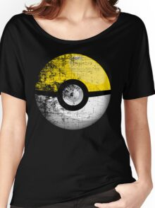 Destroyed Pokemon Go Team Yellow Pokeball Women's Relaxed Fit T-Shirt