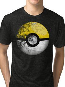 Destroyed Pokemon Go Team Yellow Pokeball Tri-blend T-Shirt