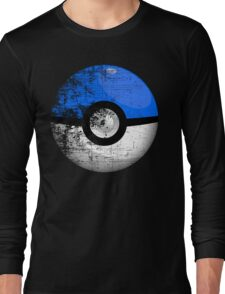 Destroyed Pokemon Go Team Blue Pokeball Long Sleeve T-Shirt