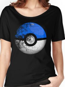 Destroyed Pokemon Go Team Blue Pokeball Women's Relaxed Fit T-Shirt