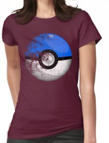Destroyed Pokemon Go Team Blue Pokeball Womens Fitted T-Shirt