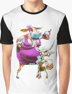 Silly Fat Cow and a Two-faced B***h Graphic T-Shirt