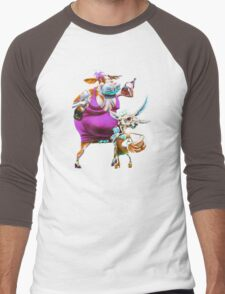 Silly Fat Cow and a Two-faced B***h Men's Baseball ¾ T-Shirt