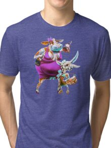 Silly Fat Cow and a Two-faced B***h Tri-blend T-Shirt