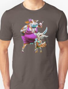 Silly Fat Cow and a Two-faced B***h Unisex T-Shirt