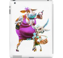 Silly Fat Cow and a Two-faced B***h iPad Case/Skin