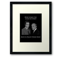Hamilton x The West Wing - I called you here because our odds are beyond scary (Leo and Josh) Framed Print
