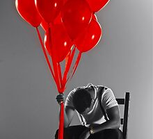 RED balloons by Tenee Attoh