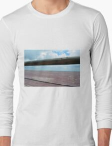 Detail of wooden table against the sky. Long Sleeve T-Shirt