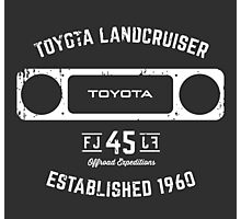 Toyota 40 Series Landcruiser FJ45 Square Bezel Est. 1960 Photographic Print