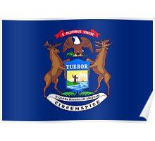 Michigan State Flag Poster