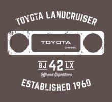Toyota 40 Series Landcruiser BJ42 LX Square Bezel Est. 1960 One Piece - Short Sleeve