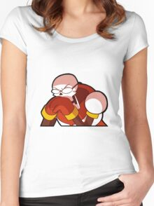 Eat the damn spaghetti human! Women's Fitted Scoop T-Shirt