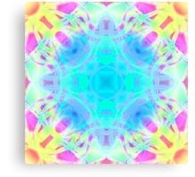Abstract psychedelic pattern yellow pink blue Canvas Print