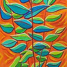 Arid Garden - Leaves by Georgie Sharp