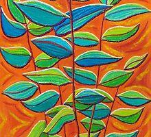Arid Garden - Leaves by Georgie Sharp