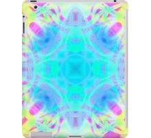Abstract psychedelic pattern yellow pink blue iPad Case/Skin