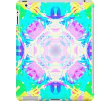 Abstract psychedelic pattern blue yellow iPad Case/Skin
