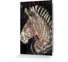 Street Zebra Greeting Card