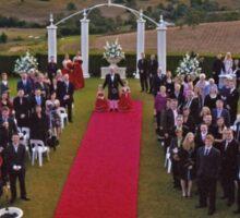 Wedding Crowd Photography Sticker