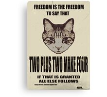 Orwellian Cat On Mathematics Canvas Print