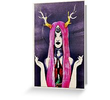 Purple Witchy Woman  Greeting Card
