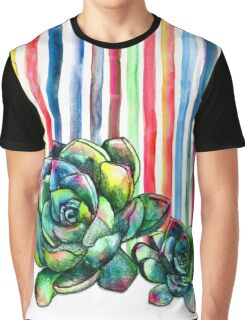 Rainbow Succulents Graphic T-Shirt