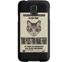 Orwellian Cat On Mathematics Samsung Galaxy Case/Skin