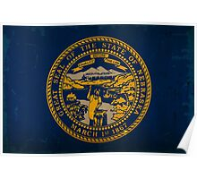 Nebraska State Flag VINTAGE Poster