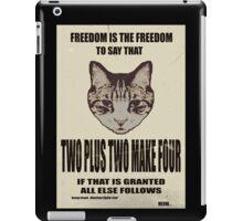 Orwellian Cat On Mathematics iPad Case/Skin