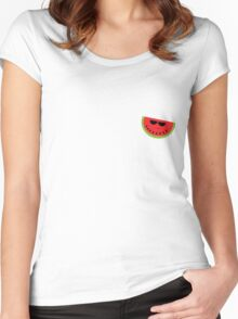 Funky Watermelon Women's Fitted Scoop T-Shirt