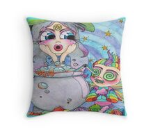 Soap Bubbles Throw Pillow