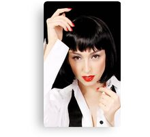 Clockwork Orange Girl Canvas Print