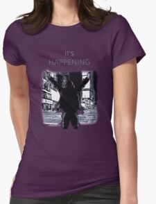 Mr Robot - It's happening Womens Fitted T-Shirt
