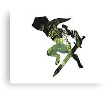Legend of Zelda Link Silhouette  Canvas Print
