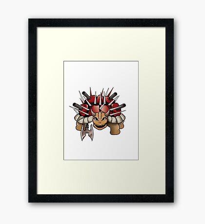 DEATH TURTLE Framed Print