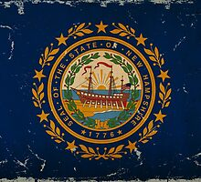 New Hampshire State Flag VINTAGE by Carolina Swagger