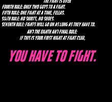 Fight Club 8 Rules by B3RS3RK3R