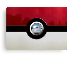 Red Pokeball Canvas Print