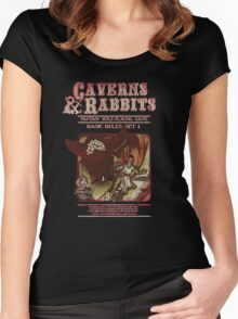 Caverns And Rabbits Women's Fitted Scoop T-Shirt