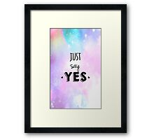 Zoella - Just Say Yes! Zoe Sugg Framed Print