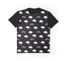Rain Clouds & Rainbows Graphic T-Shirt